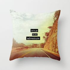 Adventure Throw Pillow by M Studio - $20.00