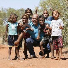 .@AAHRW Noel Pearson with children at Punmu WA