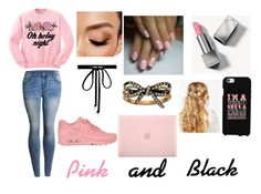 """Pink and Black Outfit"" by queen7901 ❤ liked on Polyvore featuring Junk Food Clothing, NIKE, ASOS, Incase, Marc Jacobs, Joomi Lim, Avon and Burberry"