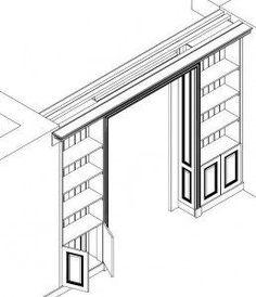 Doorway Bookshelves - Park and Oak Interior Design - Library Inspiration! Home Library Design, Home Interior Design, Room Deviders, Home Office Shelves, Master Suite Bedroom, Room Partition Designs, Internal Sliding Doors, Living Room Divider, Sliding Door Design