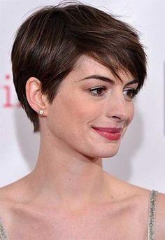 Anne Hathaway short pixie hairdos