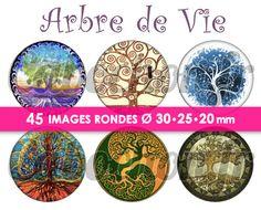 ☆ 45 Images Digitales / Numériques RONDES 30 25 et 20 mm ° Arbre de Vie ° - Page…