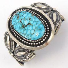 Kingman Turquoise Cuff, Leon Martinez, Jewelry, Garland's Indian Jewelry