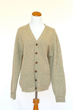 Vintage Men's Sweater Wool Cardigan by pinebrookvintage on Etsy, $40.00  NEW!!! This is a beautiful sweater and Father's day is just around the corner!