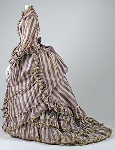 Visiting dress Date: 1867 Culture: French Medium: silk, wool, cotton Dimensions: Length at CB (a): 27 in. (68.6 cm) Length at CB (b): 57 1/2 in. (146.1 cm)