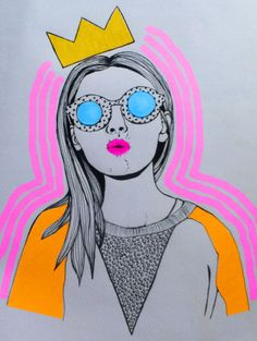 <3 maybe do sketch app on self photo then embellish w/ neon doodles? idea?