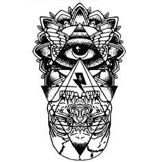 Eye Totem Temporary Tattoo