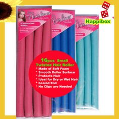 16 x Small Hair Roller Twister Curler Bender SOFT FOAM