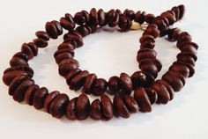 Coffee Bean Necklace Natural Simple Ecofriendly by Coffee502, $14.99