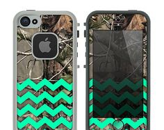Camo & Trendy Green Chevron Print Skin for the by TheSkinDudes
