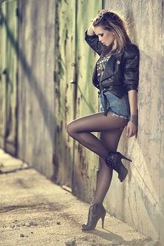 """((Major confidence -- love the denim with tights for fall/winter)) """"california"""" sun by Patryk Choinski on 500px"""
