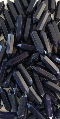 DISCOUNT Sandstone crystals, sand stone crystal, blue sandstone pendants, stone pendant, hexagonal p