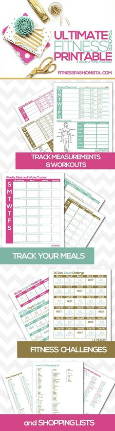 Getting organized is essential to any fitness routine. A weight loss planner helps. Check out the absolute BEST printable fitness and weight loss planners!
