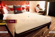 Great use of full screen images in hotel website design - Dot Tourism Hotel Website Design, Tourism, Sleep, Learning, Home Decor, Turismo, Decoration Home, Room Decor, Studying