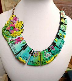 """Vivaldi Spring"", polymer clay necklace :)"