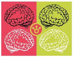 #Cerebro rojo-verde