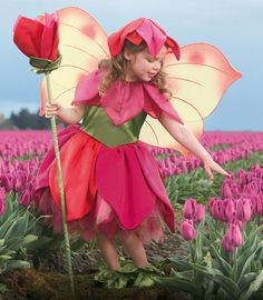tulip fairy costume~ I love this idea... maybe we could use one of the flowers from the bouquets?