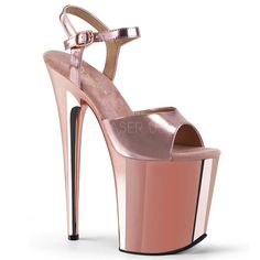 FLAMINGO 809 Rose Gold Met. Pu/Rose Gold Chrome. ◈ www.Stripper-Shoes.com >> Pleaser >> Flamingo. ◈ Ships from United Kingdom and USA. ◈ A cool gift. ◈ Great for movie night! ◈ ◈◈◈◈◈ Stripper Shoes ◈ Exotic Dancer ◈ Pleaser Shoes ◈ Platform ◈ #StripperShoes #ExoticDancer #PleaserShoes #PlatfromShoes