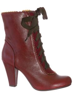 Femme Victorian Burgundy Boots by Chelsea Crew | Boots | PLASTICLAND