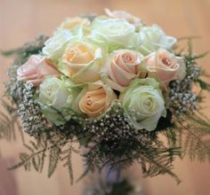 Bridal bouquet with Avalanche, Sweet Avalanche and Pearl Avalanche byMeijer Rosesmade by Bloemeninhetgooi.nl!