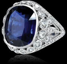 6.24 carat sapphire and diamond ring.