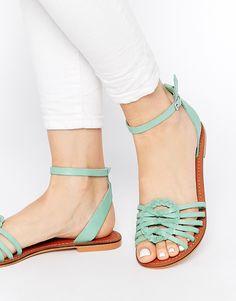 Image 1 ofASOS FAITHFUL Leather Woven Sandals
