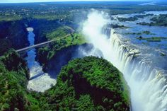 Zimbabwe has several major tourist attractions. Victoria Falls on the Zambezi, which are shared with Zambia, are located in the north west of Zimbabwe. Before the economic changes, much of the tourism for these locations came to the Zimbabwe side but now Zambia is the main beneficiary. The Victoria Falls National Park is also in this area and is one of the eight main national parks in Zimbabwe, the largest of which is Hwange National Park.