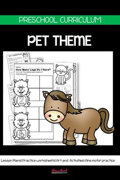 This Pets Preschool packet is a wonderful way for your preschool or pre-k kids to work on basic literacy and math and fine motor skills. These no-prep printables are great for distance learning or in class centers and stations. Preschool Curriculum, Preschool Printables, Preschool Worksheets, Preschool Learning, Homeschool, Teaching, Everything Preschool, Toddler Age, Fine Motor Skills