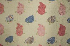 Bunnies and Chicks Quilt: Circa 1930; Pennsylvania
