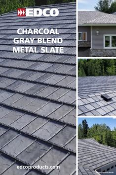 Charcoal Gray Blend metal slate roofing is a stunning addition to any home! And you can rest easy knowing your EDCO metal roof is guaranteed for life - even against hail damage. This beautiful roof was installed by Elements North out of Thunder Bay, Ontario. Visit our website to learn more. #EDCOProducts