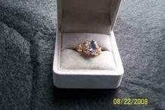 Tanzanite/diamond ring - $175 (Brookings, OR)