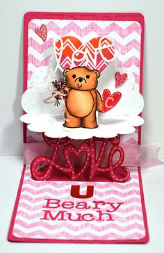 Love You Beary much by Kelly Booth, via Flickr pop up card