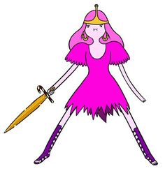 Princess bubblegum from adventure time time to see how hard she is the draw