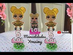 Idea cumpleaños LOL Surprise   Tucumpleañosfeliz.cl Bee Party, Chalk Markers, Ideas Para Fiestas, Lol Dolls, Queen Bees, Christmas Ornaments, Holiday Decor, Diy, Surprise Birthday
