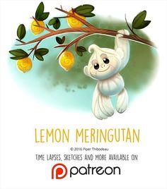 Daily Painting 1452. Lemon Meringutan #illustration