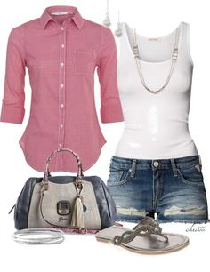 """""""Gingham Shirt"""" by christa72 on Polyvore"""