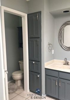 E Design An Almond Bathroom Gets A Fresh Paint Colour Gray Painted Walls Online Coloring And