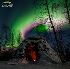 On Dec. 9th, aurora tour guide Chad Blakley of Sweden's Abisko National Park was warming up inside a Sami hut, when he looked through the door and noticed the snow turning green.