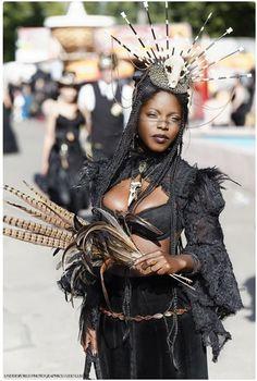 ~ Offizielle Seiten Wave-Gotik-Treffen Leipzig ~ she has such a unique look! It awesome! Black Girl Magic, Black Girls, Black Women, Dark Beauty, Gothic Beauty, Gothic Festival, Black Is Beautiful, Beautiful People, Poses