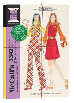 McCall's vintage patterns notebooks #McCall's #McCall's-patterns #notebook-set