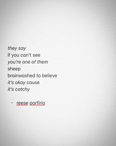 "one of those ""stay woke"" bros • ✊ • #poetry #poem #poetrycommunity #poetsofinstagram #poetsofig #canadianpoets #canadianwriters #canada #writing #writers #writersofinstagram #writingcommunity #writersofig #they #sheep #sheeple #staywoke #itsokay #catchy #brainwashed #believe #artheals #mentalhealth #awareness #reeseporfirio #follow #instagram #twitter #googleplus #facebook #tumblr #wordpress #blog #blogger"