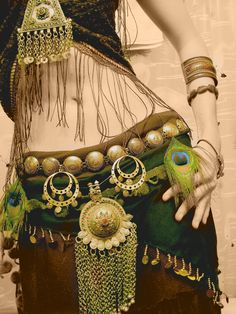Nice tribal-fusion dance garb. This piece is halfway done; wonder what it looked like in the end!