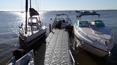 Gorgeous day out on the water here... Dock Blocks are perfect for any boat to tie up to!