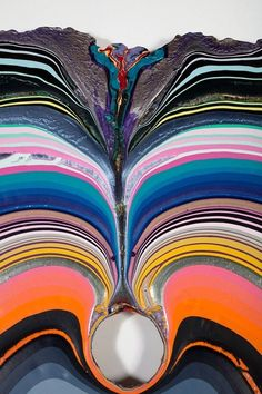 """alecshao: """" Holton Rower - Love Heals """"Rower makes these paintings by pouring fantastic quantities of doctored paint onto plywood: however, the simplicity of this description belies the. Art Actuel, Modern Art, Contemporary Art, Arte Popular, Textures Patterns, Art Inspo, Design Art, Cool Art, Art Photography"""