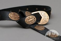 Medieval Armor Belt with Etched Brass Accents. $73.00, via Etsy.