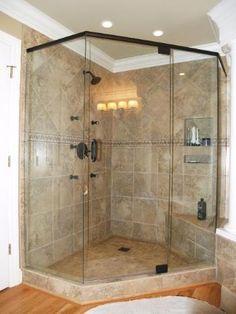 corner tiled shower design - Bing Images