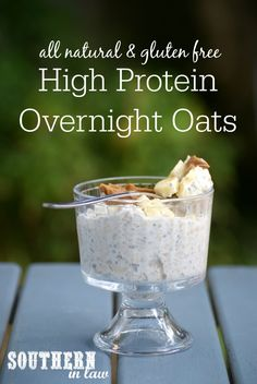Healthy Yogurt Overnight Oats Recipe - low fat, gluten free, lower carb, high protein, clean eating friendly, sugar free, healthy breakfast recipes