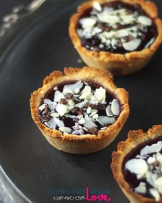 Gluten-Free Vegan Raspberry Almond Tarts Recipe