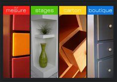 Atelier SG à Angers Méthode inédite de fabrication de mobilier carton, adaptée aux professionnels