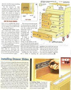 #324 Slant-Front Tool Cart Plans - Workshop Solutions